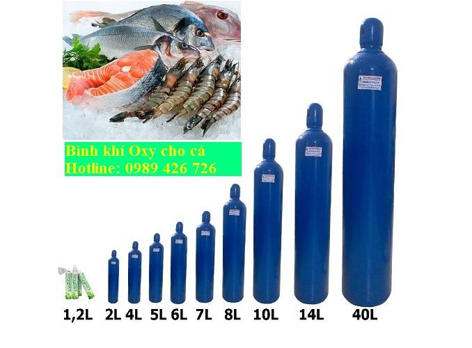 Bán bình khí oxy cho cá và hải sản tươi sống